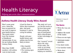 Aetna Health Literacy Newsletter - ClearMark winner 2010