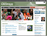 City of Gresham Website - ClearMark winner 2010