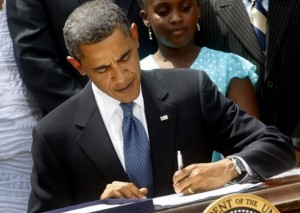 Obama signs the Act