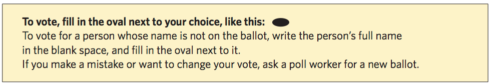 Image of ballot instructions (text follows)