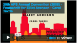 20th APS Annual Convention (2008) - Festschrift for Elliot Aronson - Carol Tavris 20:19 on Vimeo