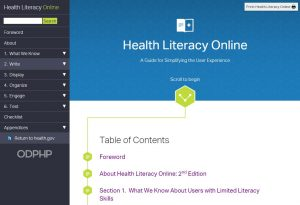 Health Literacy Online