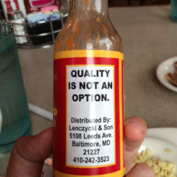 Quality is not an option!