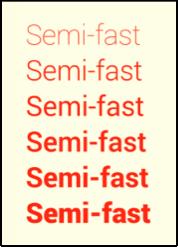 Semi-fast font image