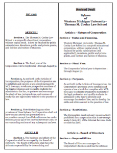 Bylaws Side by Side