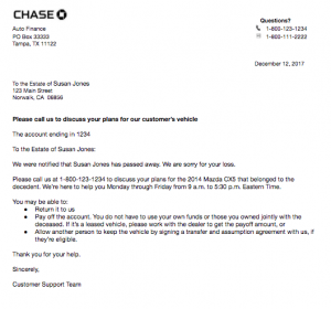 JPMorgan Chase Auto Vehicle Entry