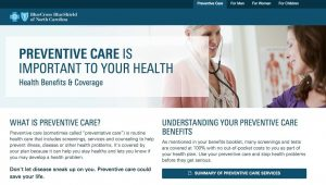 Preventive Care Wellness Screenings BCBSNC