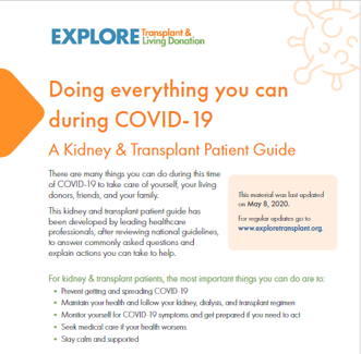 COVID-19 Kidney & Transplant Patient Guide