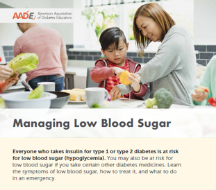 Managing Low Blood Sugar Brochure