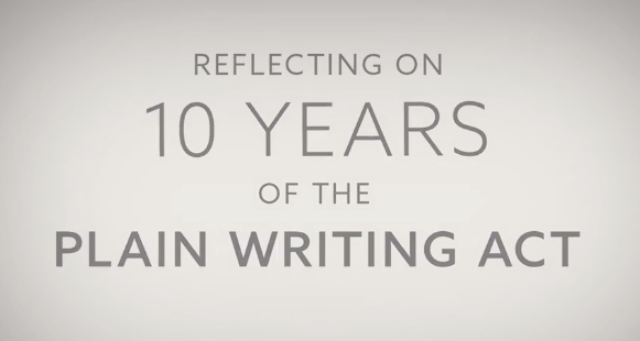 Reflecting on 10 years of the Plain Writing Act