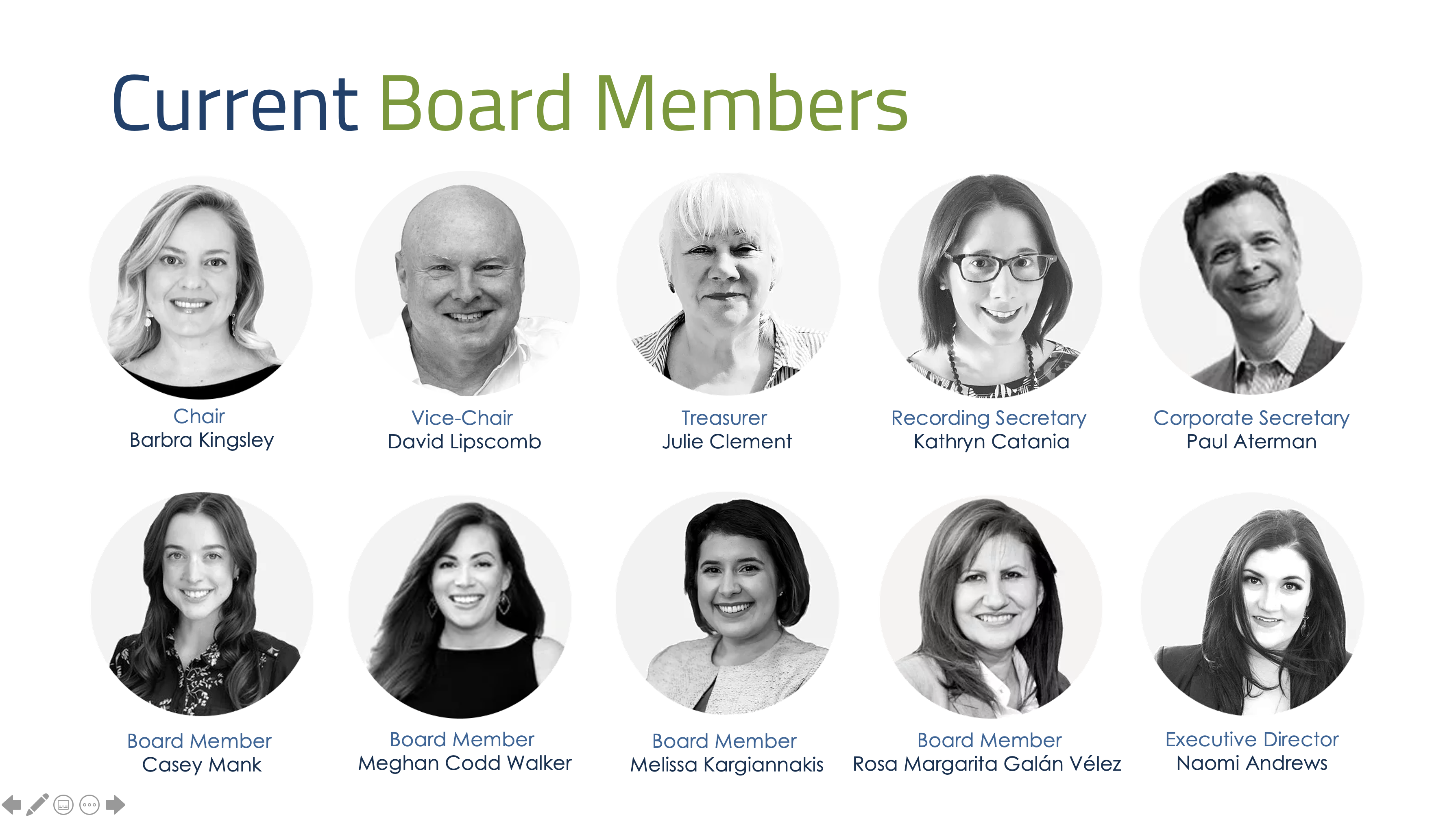 Current Board Members Center for Plain Language April 2021